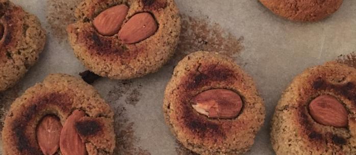 Biscuits pistaches, amandes et fleur d'oranger sans gluten sans lait
