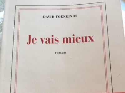 David Foenkinos: Je vais mieux
