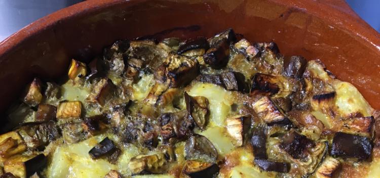 Tortilla aux aubergines en apéro ou plat